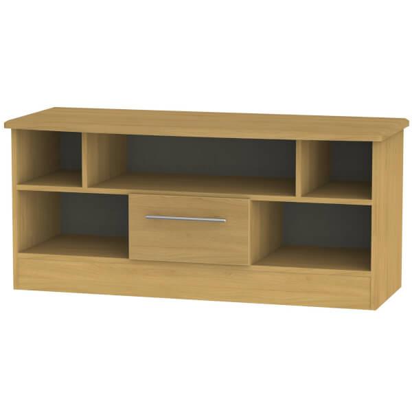 Siena Open TV Unit - Modern Oak