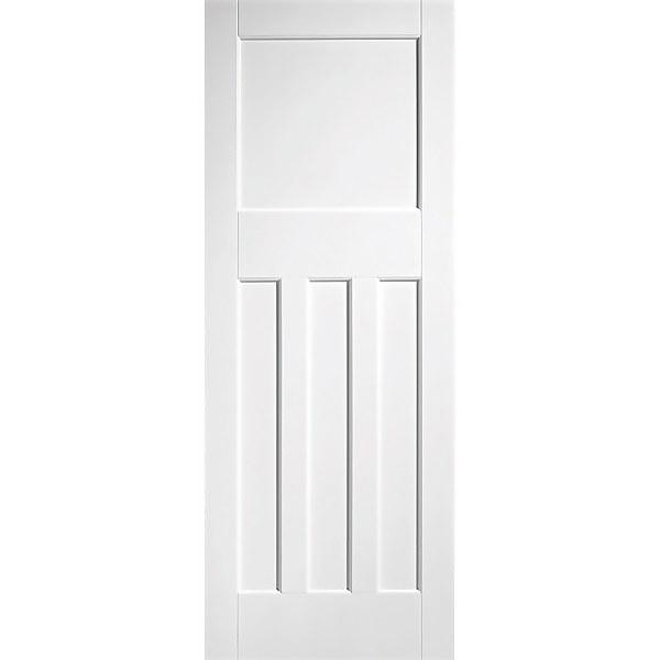 30's Style - White Primed Internal Fire Door - 1981 x 762 x 44mm