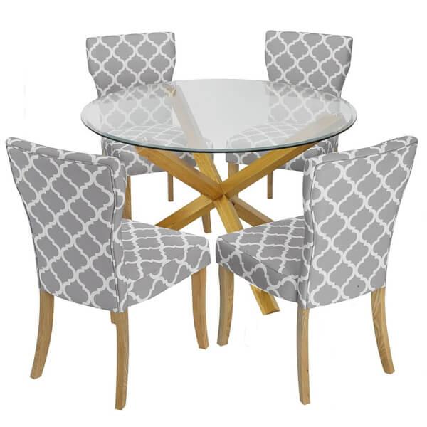 Oporto 4 Seater Dining Set