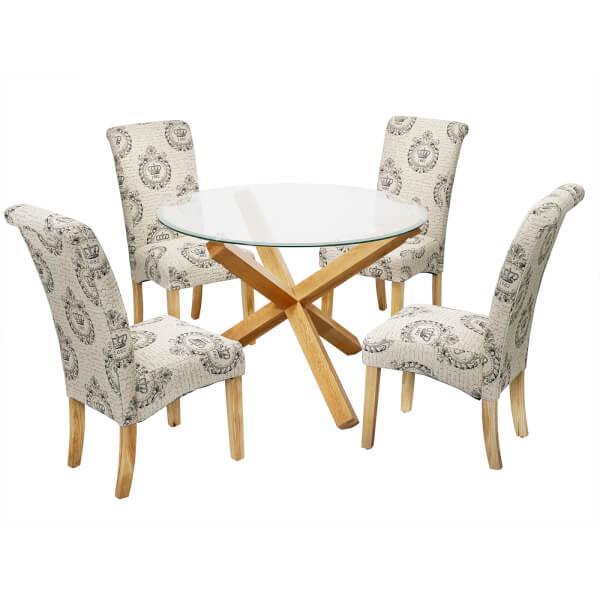 Oporto 4 Seater Dining Set - Kensington Dining Chairs