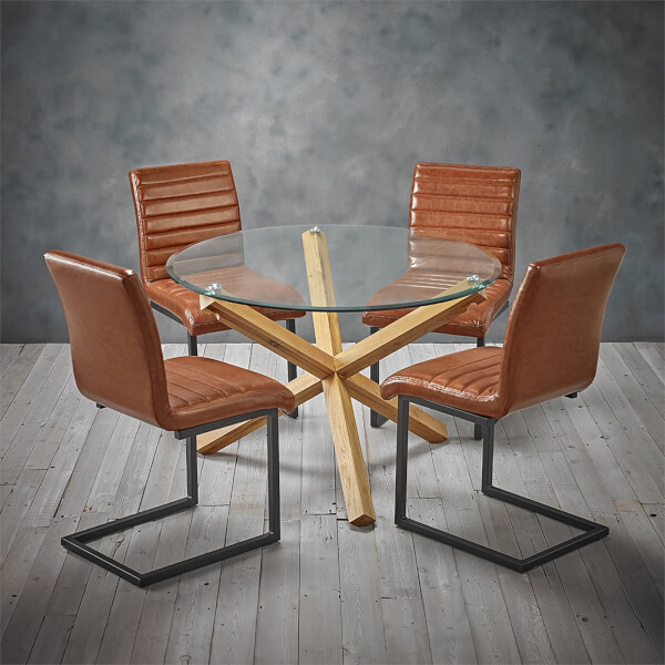 Oporto 4 Seater Dining Set - Montana Dining Chairs