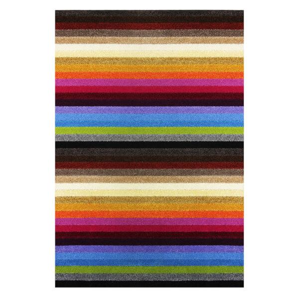 Sofia Stripe Washable Rug - Rainbow