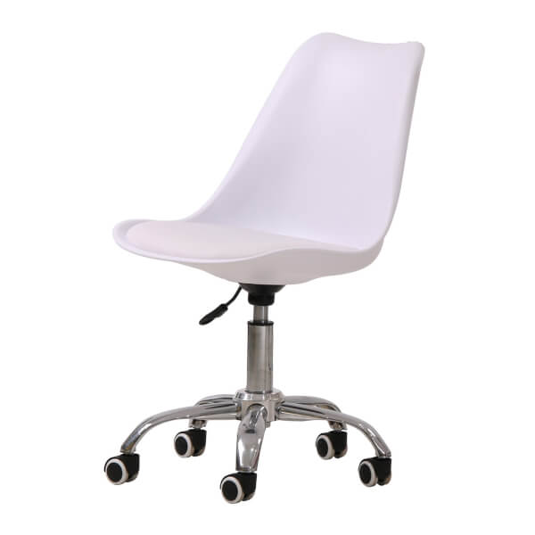 Orsen Swivel Office Chair - White