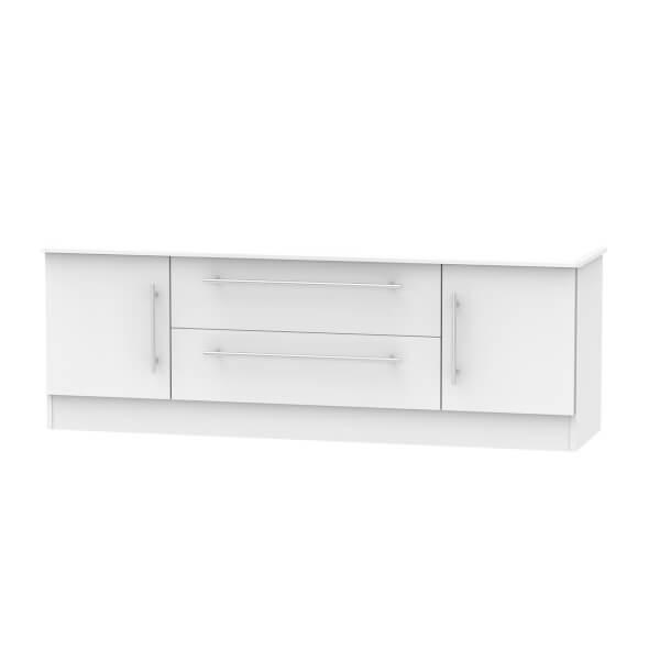Siena Wide 2 Door 2 Drawer TV Unit - Grey