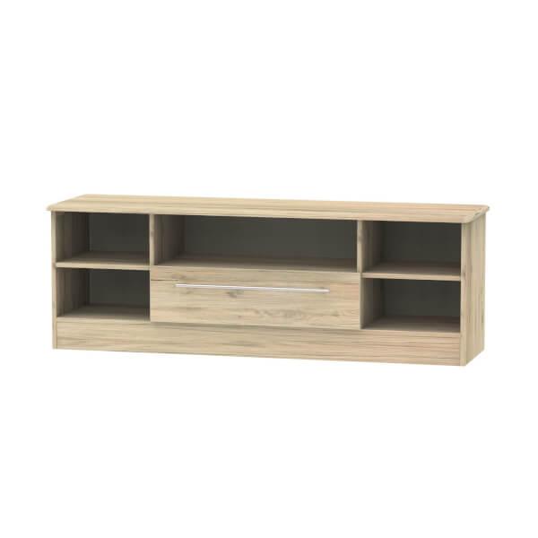 Siena Wide Open TV Unit - Bordeaux Oak