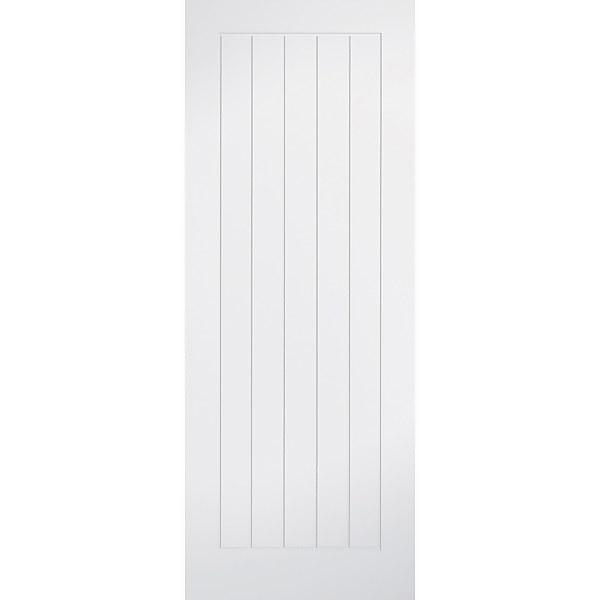 Mexicano - White Primed Internal Fire Door - 1981 x 838 x 44mm