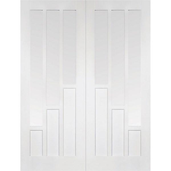 Coventry - Glazed White Primed Internal Door - 1981 x 1168 x 40mm