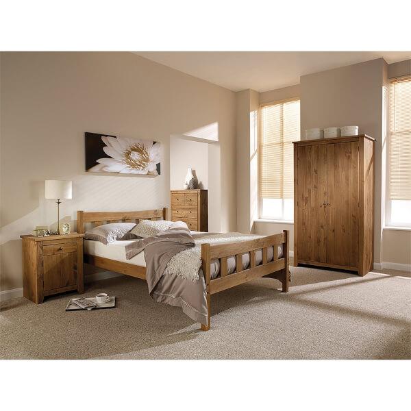 Pine Havana Double Bed