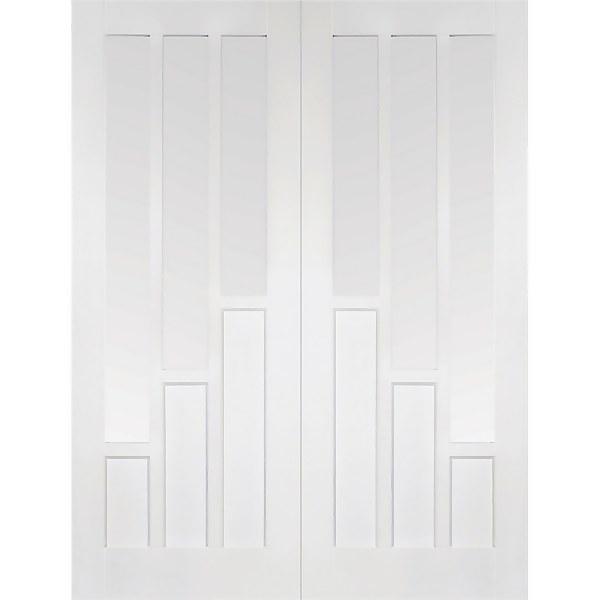 Coventry - Glazed White Primed Internal Door - 1981 x 1524 x 40mm