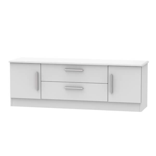 Kensington Wide 2 Door 2 Drawer TV Unit - Grey