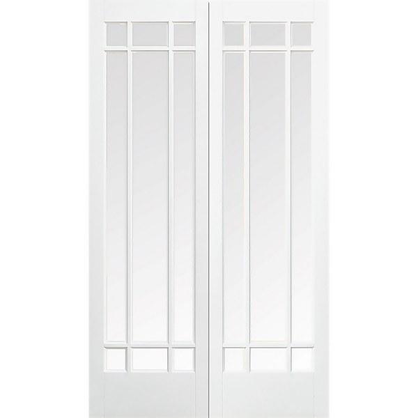 Manhattan - Glazed White - Primed Internal Door - 1981 x 1219 x 40mm