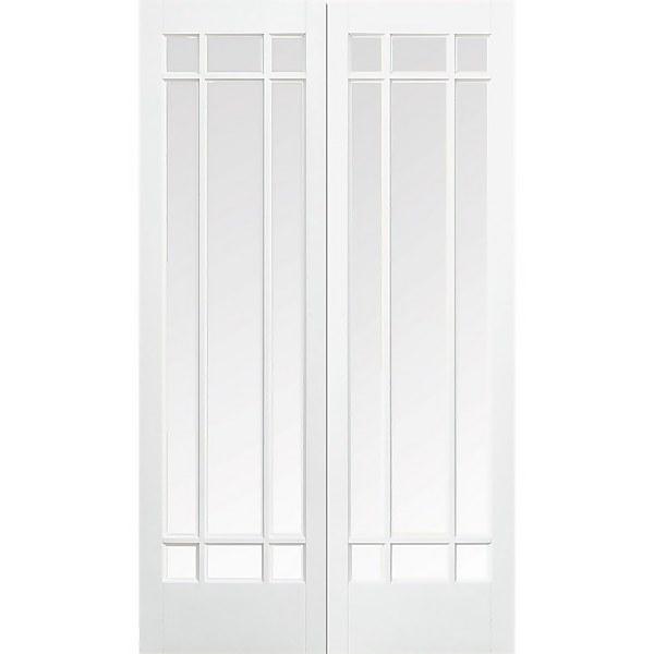 Manhattan - Glazed White - Primed Internal Door - 1981 x 1168 x 40mm