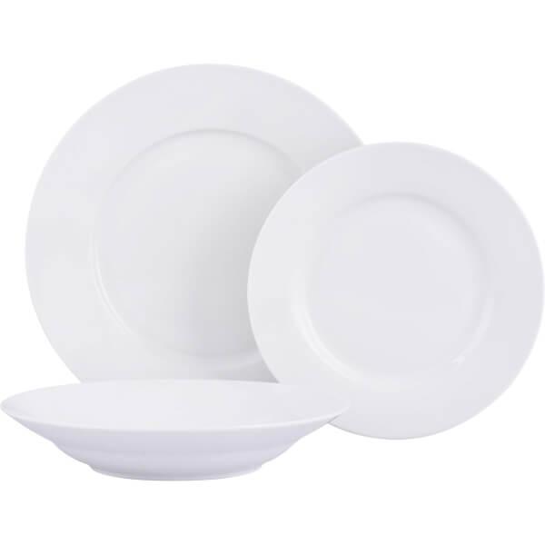 Porcelain Dinner Set - White - 12 Pieces
