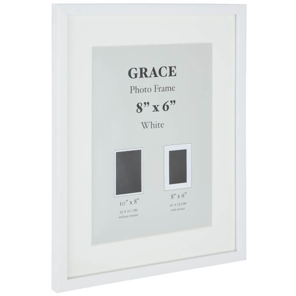 Grace Picture Frame 8 x 6 - White
