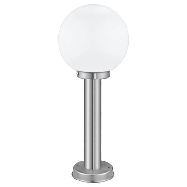 Eglo Nisia Outdoor 50cm Pedestal Lamp - Stainless Steel