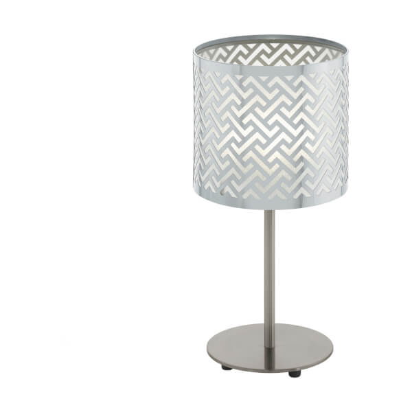 Eglo Leamington 1 Table Lamp - Nickel & Chrome