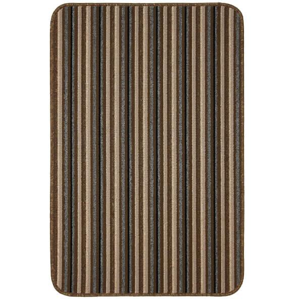 Java washable stripe mat -Chocolate
