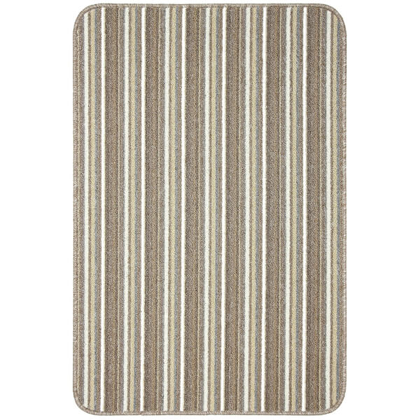 Java washable stripe mat -Cream
