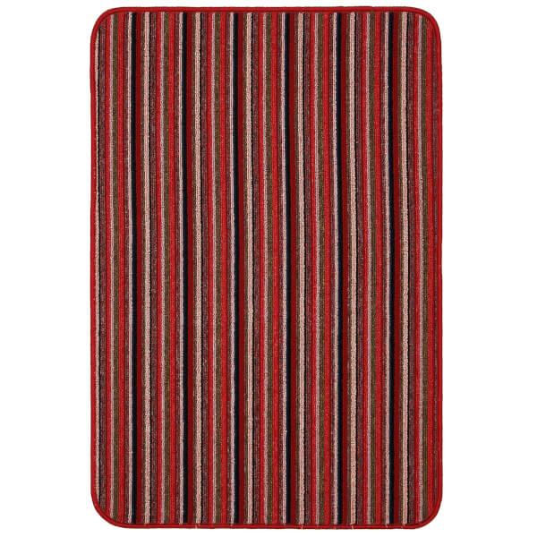 Java washable stripe mat -Red