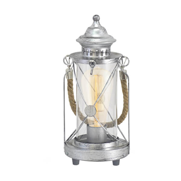 Eglo Bradford Table Lamp - Antique Silver