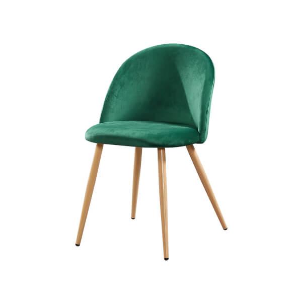 Venice Velvet Dining Chair - Green - Set of 2
