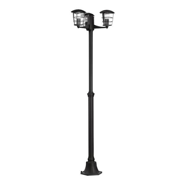 Eglo Aloria Outdoor 3 Head Lamp Post - Black