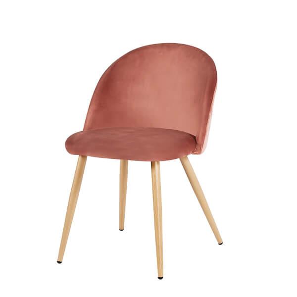 Venice Velvet Dining Chair - Pink - Set of 2