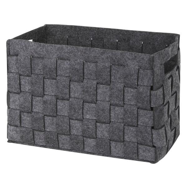 Medium Felt Storage Basket - Grey