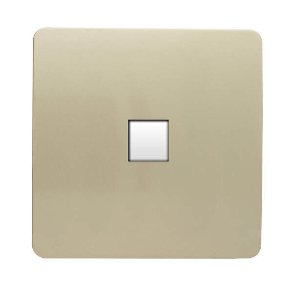 Trendi Switch 1 gang Telephone Socket in Screwless Gold
