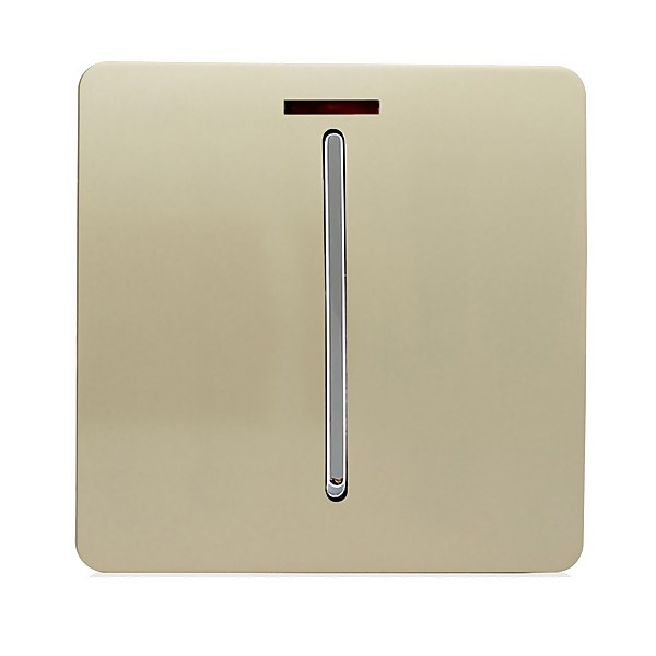 Trendi Switch 45 amp Neon Insert Cooker Switch in Screwless Gold