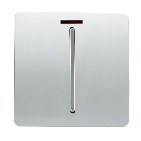 Trendi Switch 45 amp Neon Insert Cooker Switch in Screwless Silver