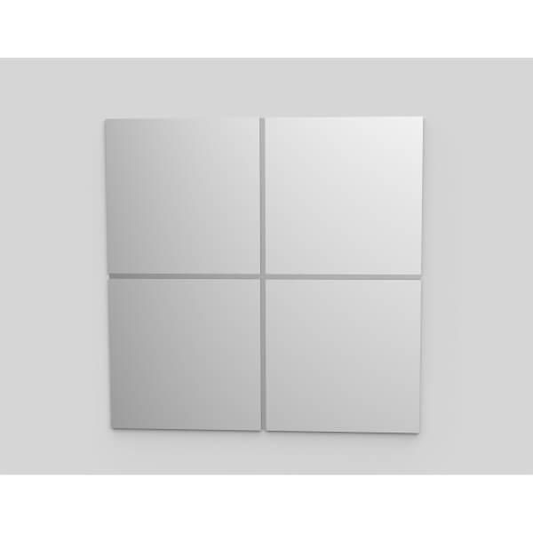 Pack of 4 Mirror Tiles - 30x30cm