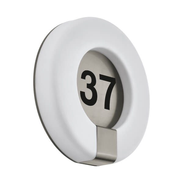 Eglo Marchesa Outdoor Light With House Numbers - White