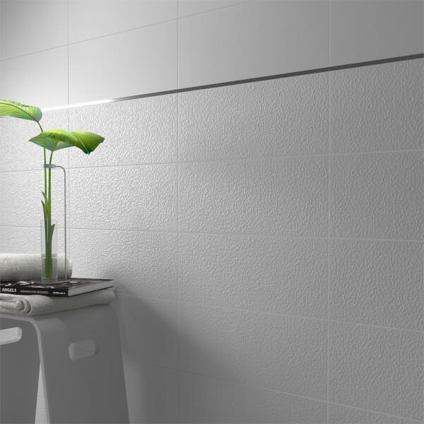 Monochrome White Wall Tile - 500 x 200mm