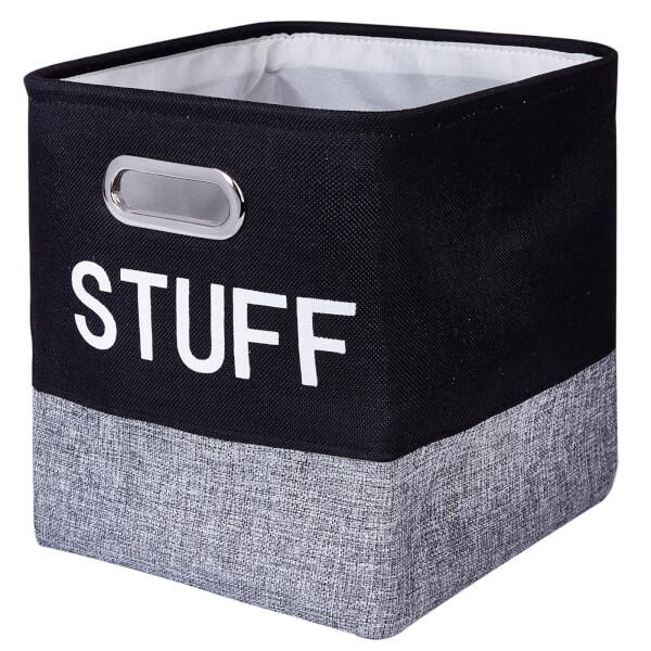 Compact Cube 'Stuff' Insert - Black & Grey