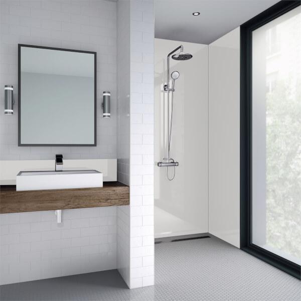 Wetwall White Gloss - 1200mm - Square Edge - Laminate