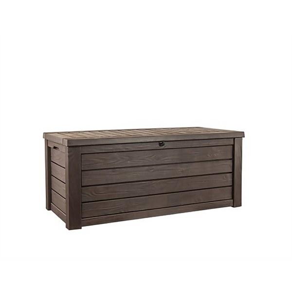 Keter Westwood Outdoor Plastic Garden Storage Box 570L - Brown