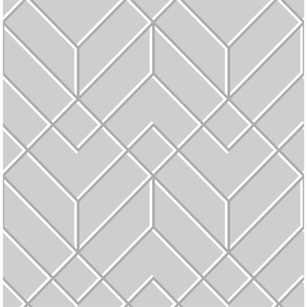 Superfresco Easy Losanges Filaires Grey & Silver Paste the Wall Wallpaper