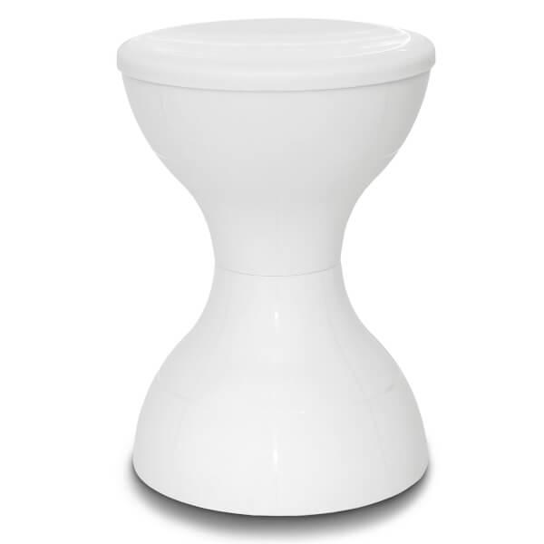 Plastic Stool - White