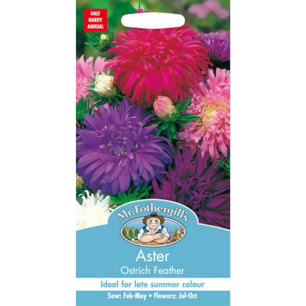 Mr. Fothergill's Aster Ostrich Feather Seeds
