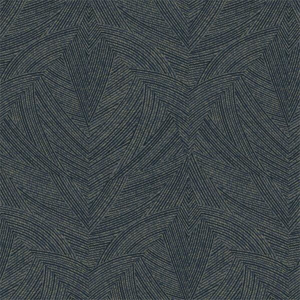 Holden Decor Toluca Geometric Textured Metallic Navy Wallpaper