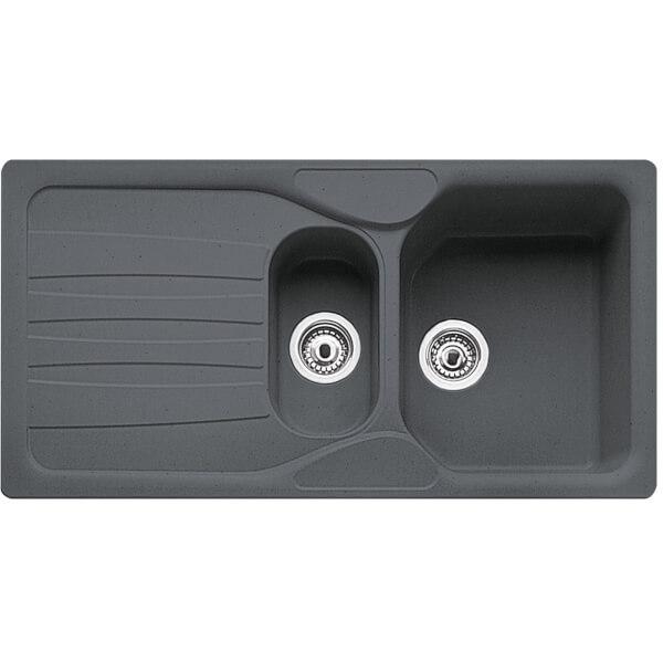 Carron Phoenix Calypso 1.5 Bowl Granite Sink - Black