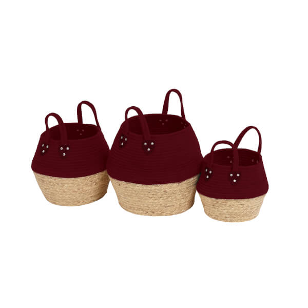 Berry Rope Baskets - Set of 3