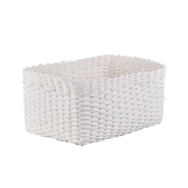 Paper Rope Basket - White