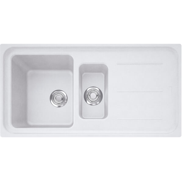 Franke Impact 1.5 Bowl Granite Sink - Polar White