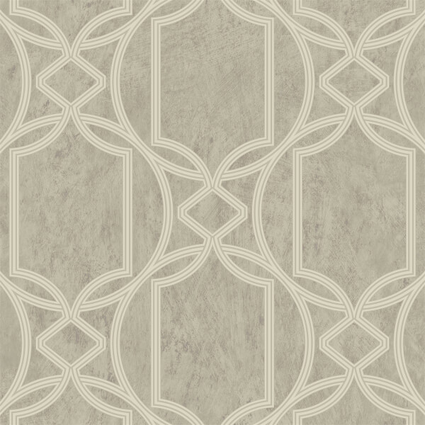 Boutique Deco Geo Taupe Wallpaper