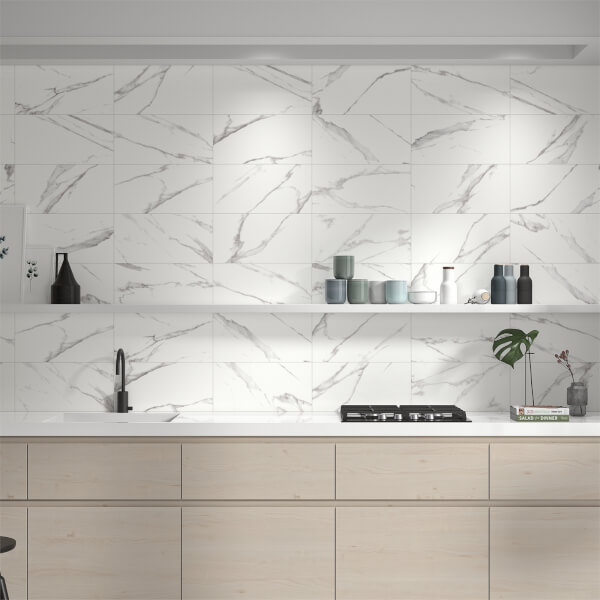 Mulqueen Carrara Wall Tile - 500 x 250mm