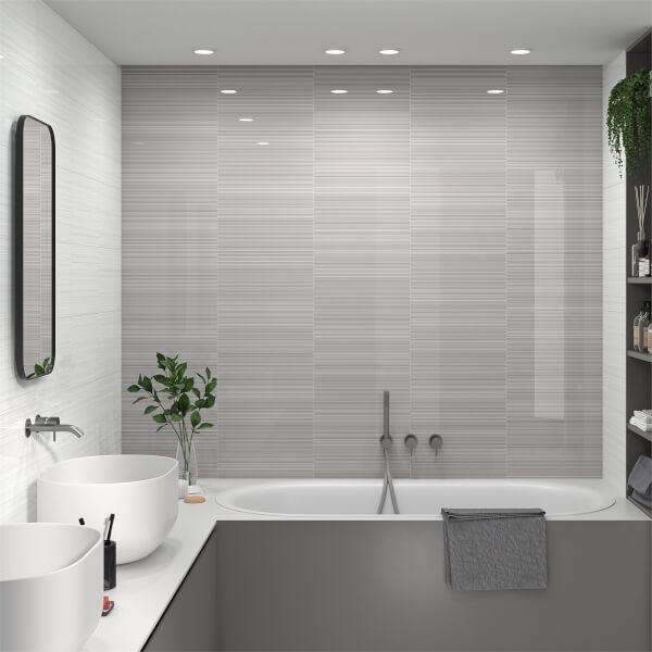 Manhattan Linea Grey Wall Tile - 400 x 250mm