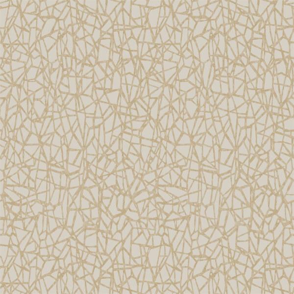 Holden Decor Sakkara Geometric Textured Metallic Cream Wallpaper