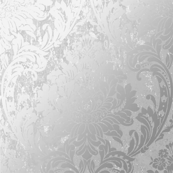 Superfresco Milan Damask Silver Wallpaper